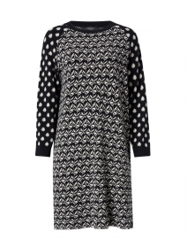 Jadi Black and White Block Geo Print Knit Dress