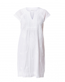 Faith White Embroidered Cotton Dress