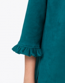Jude Connally - Cora Jade Green Faux Suede Tunic Top