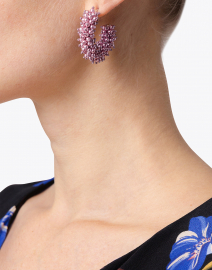 Mignonne Gavigan - Taylor Purple Mini Hoop Earrings