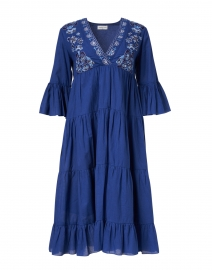 Ayna Lapis Blue Tiered Cotton Dress