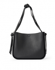 Marine Black Pebbled Leather Tote Bag
