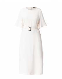 White Belted Midi Dress