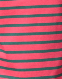 Saint James - Minquidame Forest Green and Pink Striped Cotton Top