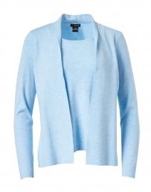 Sky Blue Stretch Knit Cardigan Top