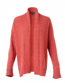 Spice Red Cable Cashmere Cardigan