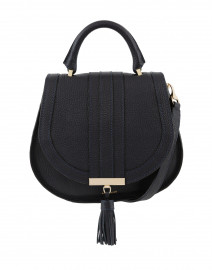 Mini Venice Navy Pebbled Leather Cross-Body Bag