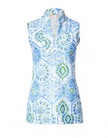 Kiera Blue Mosaic Tile Printed Tunic