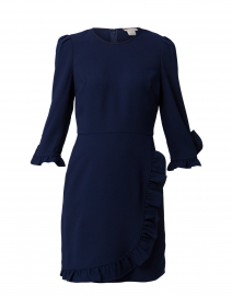 Marina Navy Stretch Crepe Dress