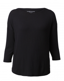 Black Extrafine Boatneck Top