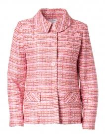 Light Pink and Red Lurex Tweed Jacket
