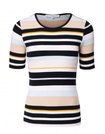 Black and Yellow Baja Stripe Cotton Sweater