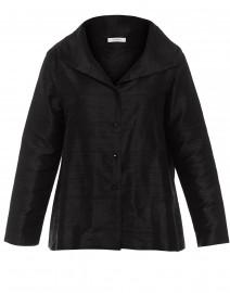 Black Silk Dupioni Shirt