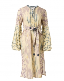 Mandalay Blue Print Cotton Dress