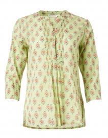 Arles Green Messilla Print Cotton Top