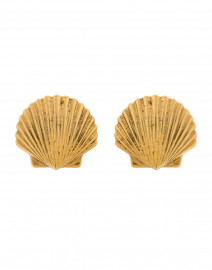 Madeleine Gold Seashell Clip On Earrings