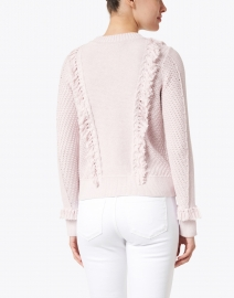 Kinross - Lily Pink Cotton Fringe Sweater