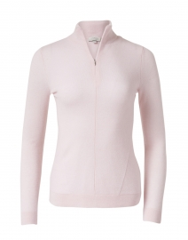 Pale Pink Cashmere Henley Sweater