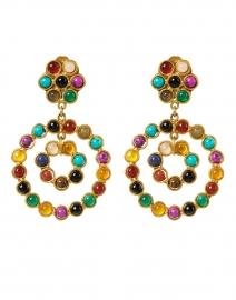 Flower Candies Multicolored Gemstone Drop Earrings