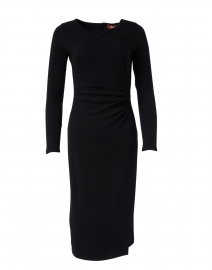 Macario Black Ruched Jersey Dress