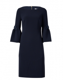 Navy Crepe Dress