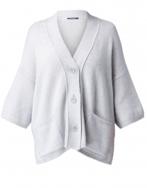 Grey Dolman Sleeved Cotton Cardigan