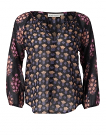 Lucy Black and Pink Madigan Floral Cotton Top