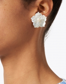 Jennifer Behr - Zia Mother of Pearl Stud Earring
