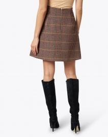 Weekend Max Mara - Brama Bordeaux Houndstooth Wool Blend Skirt