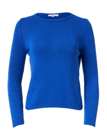 Cobalt Blue Cotton Pullover