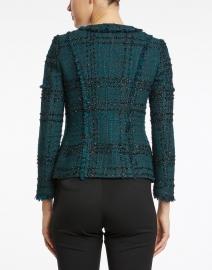 Santorelli - Estela Deep Green and Black Lurex Tweed Jacket
