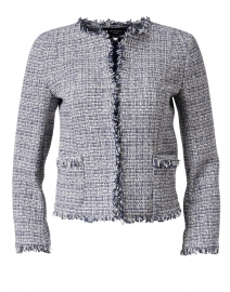 Ponte Blue Tweed Jacket