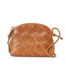 Mallory Cognac Woven Leather Crossbody Bag