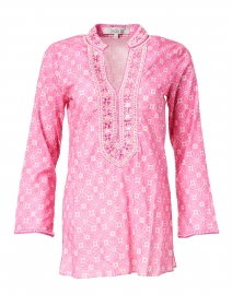 Maya Pink and White Tile Printed Cotton Tunic