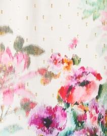 Kobi Halperin - Helena Garden Print Clip Jacquard Peasant Blouse