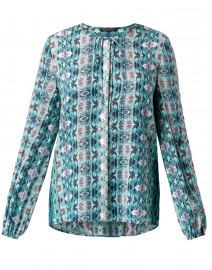 Sadie Waverly Paisley Silk Blouse