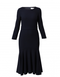 Iris Dark Navy Wool Crepe Dress