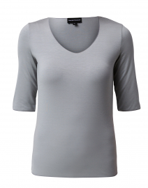 Zinc Grey Jersey Top