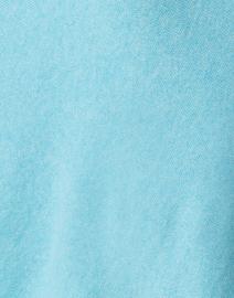 Kinross - Capri Blue and Beige Cashmere Poncho