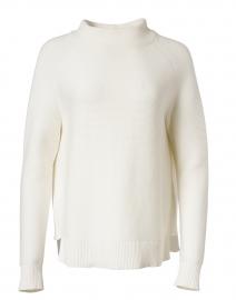 White Cotton Garter Stitch Sweater