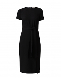 Liliah Black Stretch Crepe Dress