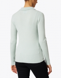 Allude - Mint Cashmere Ribbed Polo Sweater
