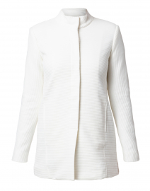 Winter White Textured Jacket