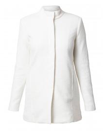 Winter White Textured Jacket
