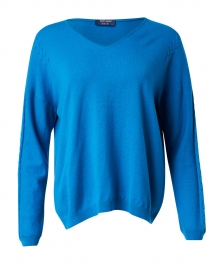Cleveland Electric Blue Wool and Cashmere Sweater