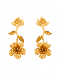 Gold Upside Down Flower Earring