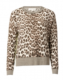 Spotted Beige Animal Printed Cashmere Sweater