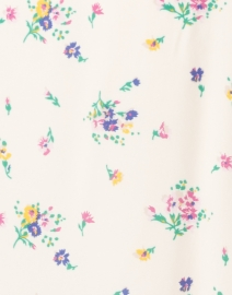 A.P.C. - Oleson Ivory Floral Printed Crepe Shirt Dress