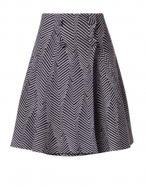 Navy Multi Double Breasted Knit Skirt