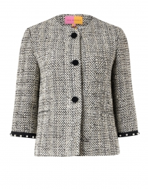 Monica Black and White Lurex Tweed Jacket